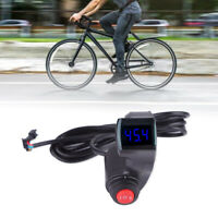 Electric Bike Scooter Thumb Throttle 12-99V LCD Display Voltmeter+3-Speed Switch