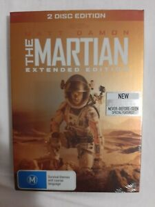 THE MARTIAN Extended Edition (DVD, 2016, 2-Disc Set) NEW & SEALED Sci Fi Fantasy