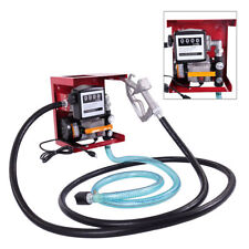 New 110V Electric Oil Fuel Diesel Gas Transfer Pump W/Meter Hose Manual