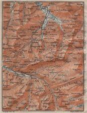Muotathal Pragel & Sihltal. Silbern liedernen (kaiserstock) IBERG 1911 OLD MAP