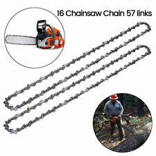 """2pcs Univesal 16"""" inch 57 DL CHAINSAW CHAIN Fit For OREGON Stihl MS170 MS180 UK"""