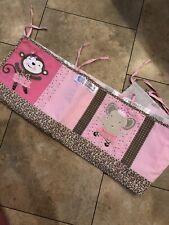 Tutu Cute Summer Infant Leopard Crib Snug Wrap Bumper Pink Baby Girl Bedding