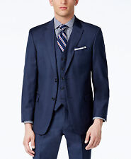 $311 TOMMY HILFIGER Men Blue Fit Wool Blazer 2 BUTTON JACKET SPORT COAT 38 R