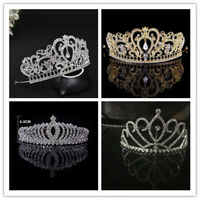 Rhinestone Wedding Tiara Headband Bridal Tiara Crown Prom Pageant Headpiece C9Y1