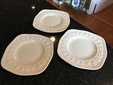 "Wedgwood of Etruria & Barlaston ""Wellesley"" Square Luncheon Plates Set of 3 Rare"