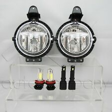 For 07-15 Mini Cooper Replacement Fog Lights Pair w/COB & SMD LED Bulbs - Clear