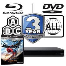 Sony UBP-X800 Full MultiRegion 4K Ultra HD Blu-ray Player & Spiderman Homecoming