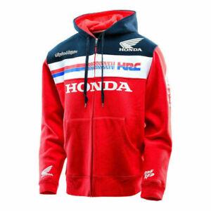 Honda-HRC Racing Zipper Jacke Hoodie Hooded Fashion Sweatshirt Herren Mäntel DE.