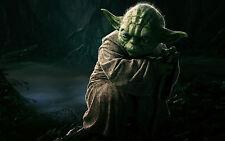 Incorniciato stampa-Jedi Master Yoda (PICTURE POSTER STAR WARS DARTH VADER forza ART)