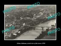 OLD 6 X 4 HISTORIC PHOTO SELMA ALABAMA AERIAL VIEW OF THE TOWN c1950