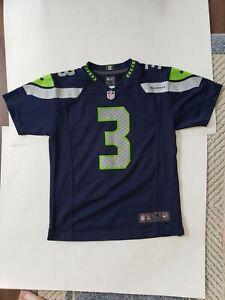 Russell Wilson #3 Seattle Seahawks NFL Football Jersey Nike Youth Size M(10-12)