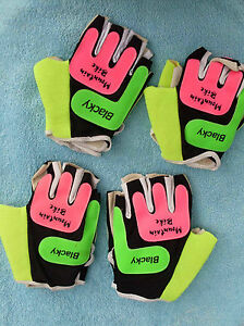 New Gloves Bike half finger Blacky Mountain bike pink green yellow S, 2x M, L