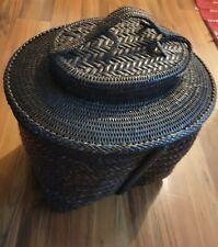 Collectible Beautiful Wowen Rattan And Bamboo Basket Decoration/storage