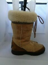 UGG 100% AUTHENTIC SUEDE LOW FLAT HEEL BOOTS SIZE 5.5