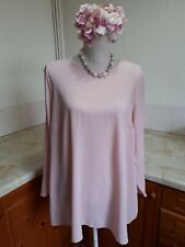 P18. Evans Pink Long Sleeved Top Shoulder Detail  Size 18