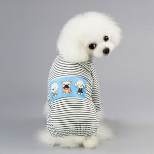 Striped Smile Pet Dog Clothes Winter Warm Jacket Coats Cat Dog Clothes Pajamas