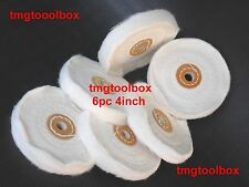 6 PC 4''X 1/2'' BUFFING POLISHING WHEELS COTTON PADS,  FOR GRINDER