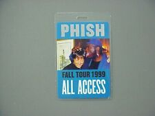 Phish backstage pass Laminated Authentic Fall Tour 1999 Lawrence Taylor Lt !