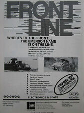 5/1981 PUB EMERSON ELECTRONICS SPACE DEFENSE SYSTEMS ANTI TANK RADAR ORIGINAL AD