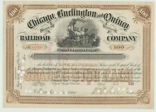 1895 Chicago Burlington & Quincy Railroad Company Stock Certificate