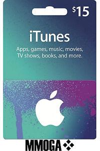 iTunes 15 $ Karte Gutschein US Dollar Key Card Geschenkkarte - USD