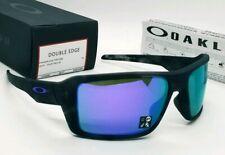 OAKLEY black tortoise/violet iridium DOUBLE EDGE OO9380-0466 sunglasses NEW!