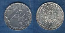 10 Euro Série des Régions 2010 Drapeaux Argent SUP - Réunion