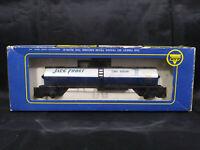 RoCo JACK FROST CANE SUGAR TANK CAR - WHITE- HO SCALE MODEL TRAIN + BOX. VINTAGE