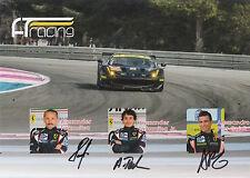 Talkanitsa, ttalkanitsa JR, Pier Guidi firmato a mano le Mans PROMO CARD 2016 CME.