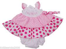 Robes rose à motif À Pois pour fille de 0 à 24 mois