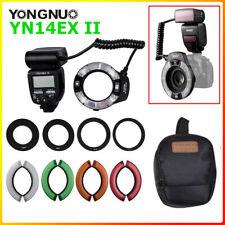 Yongnuo YN14EX II tiempo para vivir LED Macro anillo ligero Doble Lámpara Macro Flash para Canon Réflex