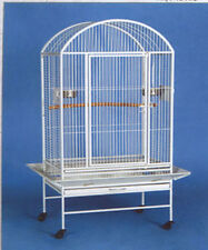 NEW Large Dome Top Bird Parrot Macaw Amazon Wrought Iron WHT Cage - 597