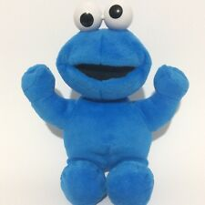 "Sesame Street Cookie Monster Plush Stuffed Animal 11"" Fisher Price Mattel 2001"