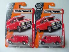 Matchbox Lot Of 2 1995 '95 Custom Chevrolet Chevy Van Red Both Versions Nip