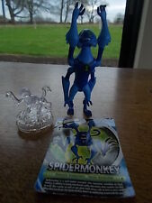 "2 x BEN 10 Action Figures & Card SPIDERMONKEY Alien Force VGC 4.5"" Moving limbs"