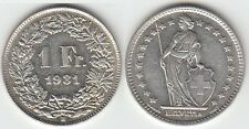 Gertbrolen Suisse 1 Franc argent 1931   Swiss  Confédération Hélvétique