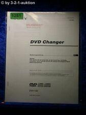 Sony Bedienungsanleitung DVX 100 DVD Changer (#1281)
