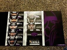 2013 MINNESOTA VIKINGS SEASON TICKET STRIP SHEET SET STUB METRODOME LAST YEAR