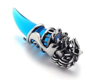 Clearance! Men Titanium Stainless Steel Wolf Tribal Pendant Necklace