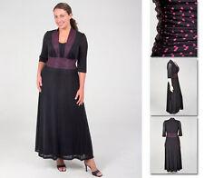 NEW Zaftique LUCY DRESS Retro BLACK / HOT PINK 0Z 1Z / 14 16 / L XL 1X