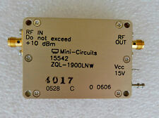 NEW MINI CIRCUITS 15542 ZQL-1900MLN LOW NOISE AMPLIFIER COAXIAL RF SMA CONNECT