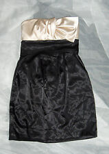 TEEZEME FORMAL GOWN DRESS SIZE 3 BLACK IVORY CREAM PROM STRAPLESS USA MADE