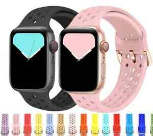 For Apple Watch iWatch Band Series SE 6 5 4 3 2 1 Sports Silicone Bracelet Strap