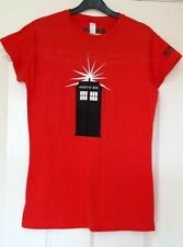 New Doctor Who Experience Ladies T-Shirt / Top Exclusive Size Large ~ The Tardis