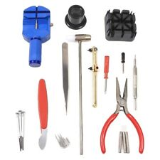 21Pc WATCH REPAIR KIT Band Link Spring Pin Punch Hammer Screwdriver Magnifier