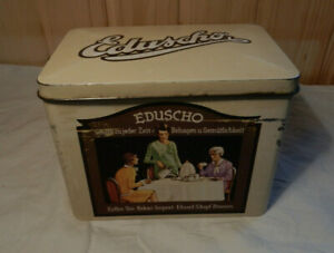 EDUSCHO Kaffee Blechdose (Replikat nach altem Original aus 1920er)