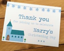 25 Handmade Personalised Christening/Baptism Thank You Cards *
