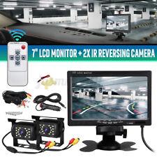 "2 x Autokamera Rückseiten Kamera Mit 7"" LCD Monitor Rückfahrkamera Bus Auto"