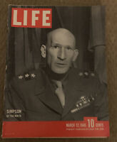 LIFE Magazine - MARCH 12 1945 - SIMPSON OF THE NINTH - Vintage Ads, WWII