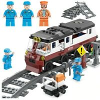 Legos City Repairing Faulty Train Figures Model Building Blocks Technic Bricks